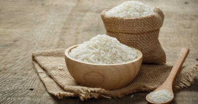 Nutritional value of white rice.