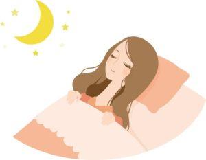 寝てる女性