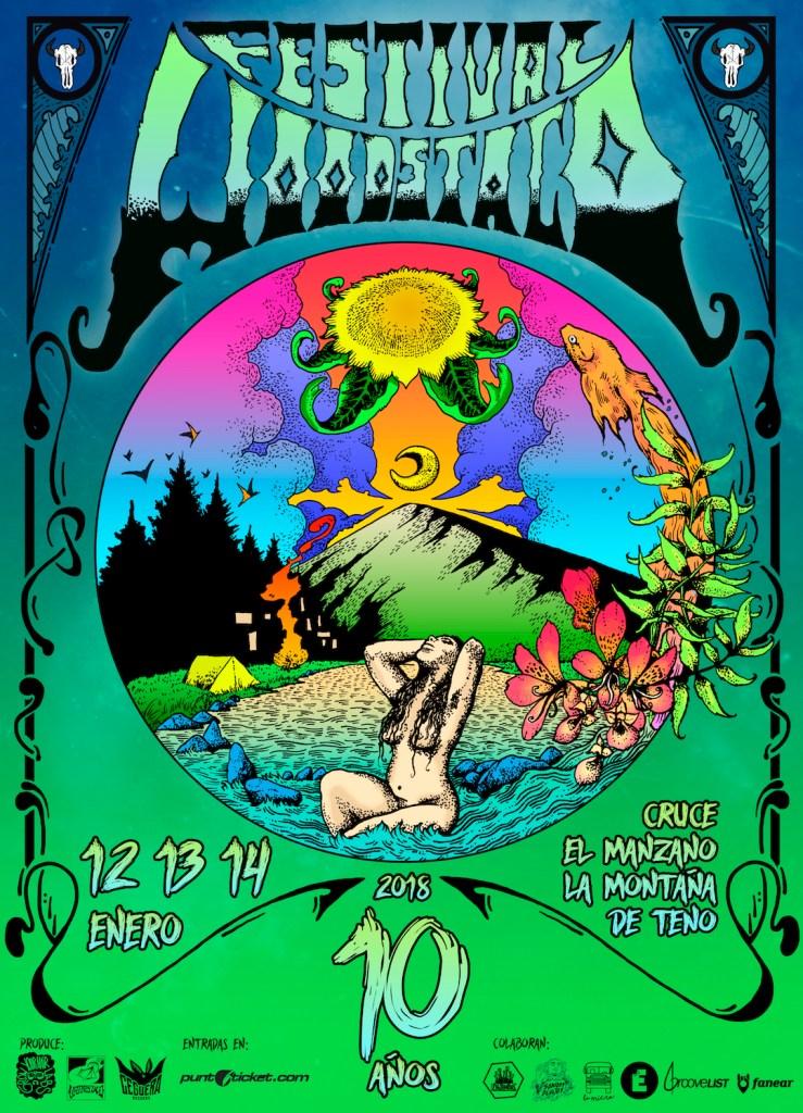 Afiche Woodstaco 10 Años