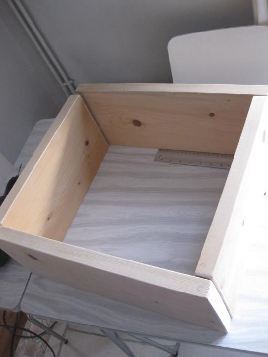 Etagère cube bois DIY