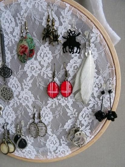 Cadre porte-boucles d'oreilles-DIY