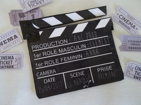 Clap de cinéma DIY