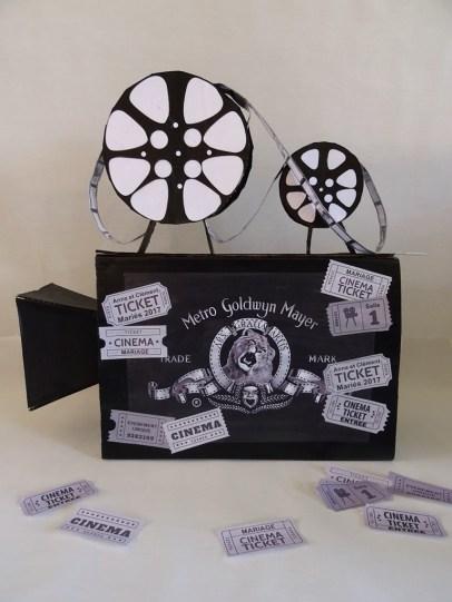 Cagnotte mariage-Thème cinéma DIY
