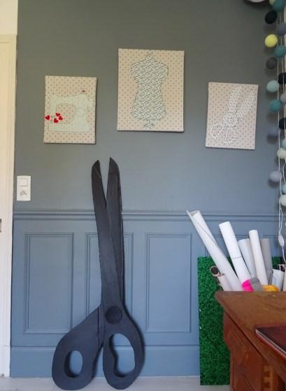 Fabriquer une paire de ciseaux géantes-DIY