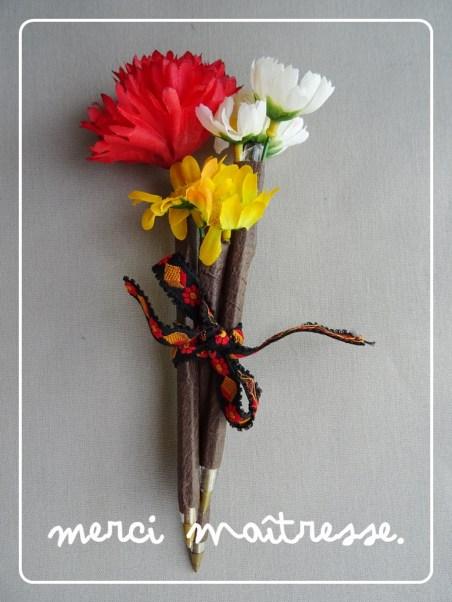 Crayon fleur DIY