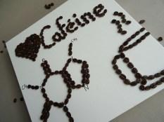 Collage grain de café