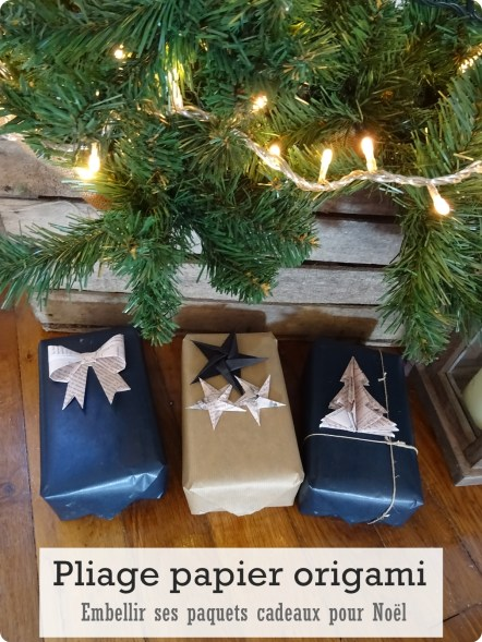 paquet cadeau origami