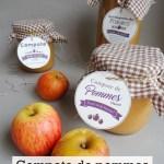 Compote de pommes-Recette Thermomix+Étiquettes