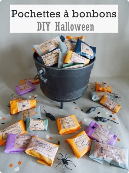 halloween pochette bonbons