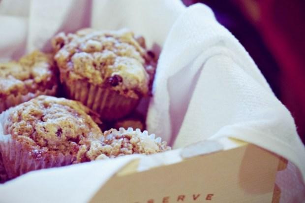Raisin Cinnamon Swirl Muffins