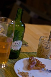 St Peter's Gluten Free Beer Review - pictured with pretzels & mustard