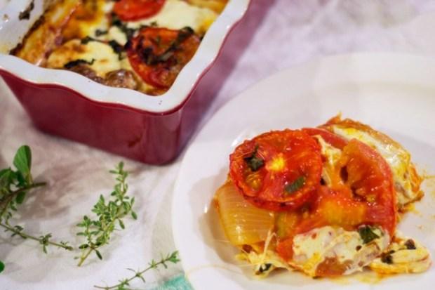 gluten free margherita lasagna