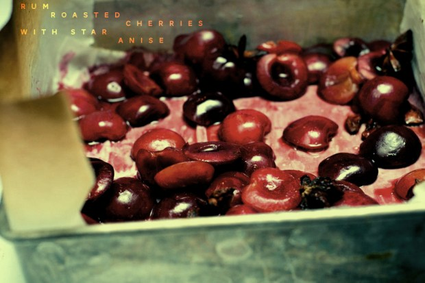 roasted cherries with star anise