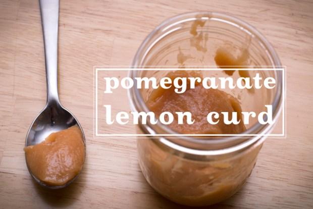 gluten free pomegranate lemon curd in a jar