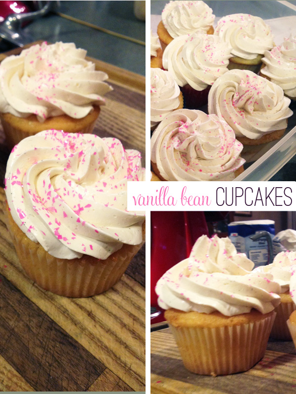 gluten-free vanilla bean cupcakes with swiss meringue buttercream from frannycakes