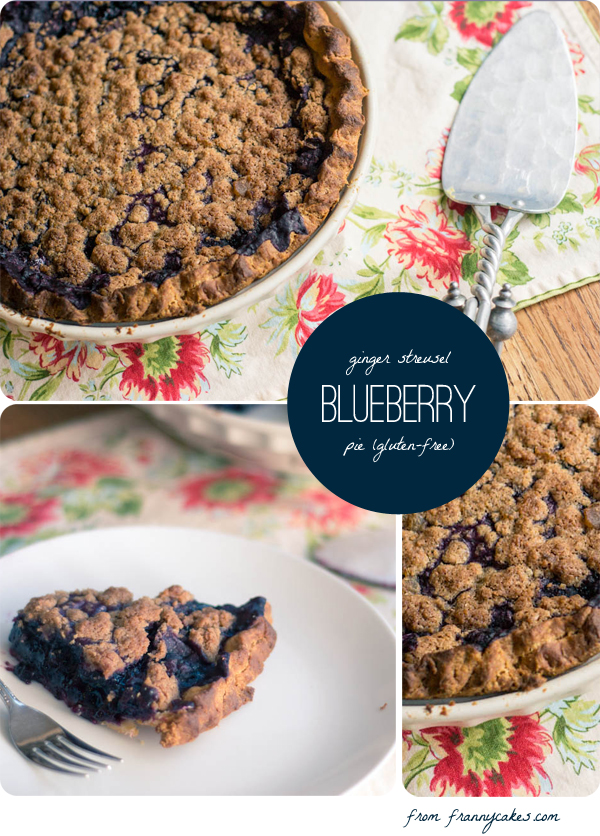 gluten free blueberry ginger streusel pie