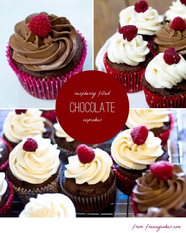 gluten free raspberry filled chocolate cupcakes