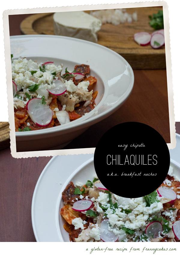 gluten free chilaquiles a.k.a. breakfast nachos