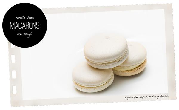 gluten-free vanilla bean macarons