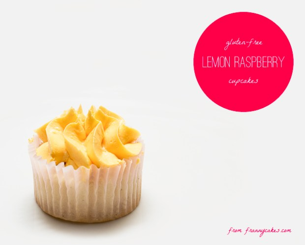 gluten-free lemon raspberry cupcakes