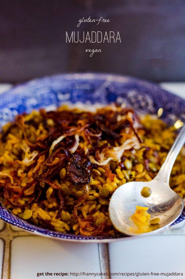 Gluten-free mujaddara recipe from FrannyCakes