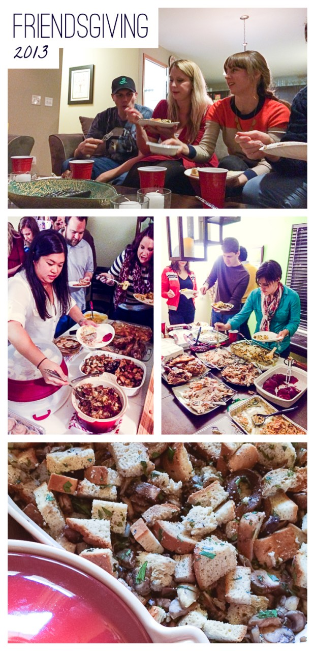 gluten-free stuffing at friendsgiving 2013