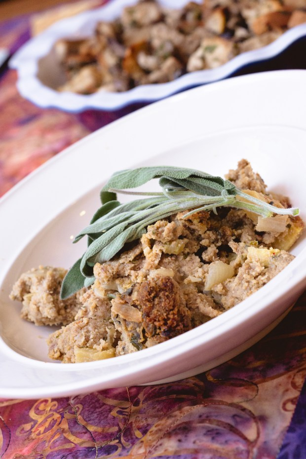 gluten free sage & apple stuffing from frannycakes