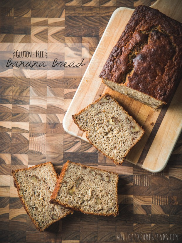 Gluten Free Banana Bread from Willow at Will Cook for Friends on FrannyCakes