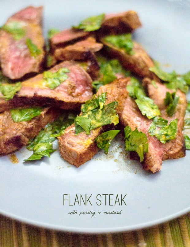 steak with parsley and mustard sauce | a gluten-free recipe from frannycakes