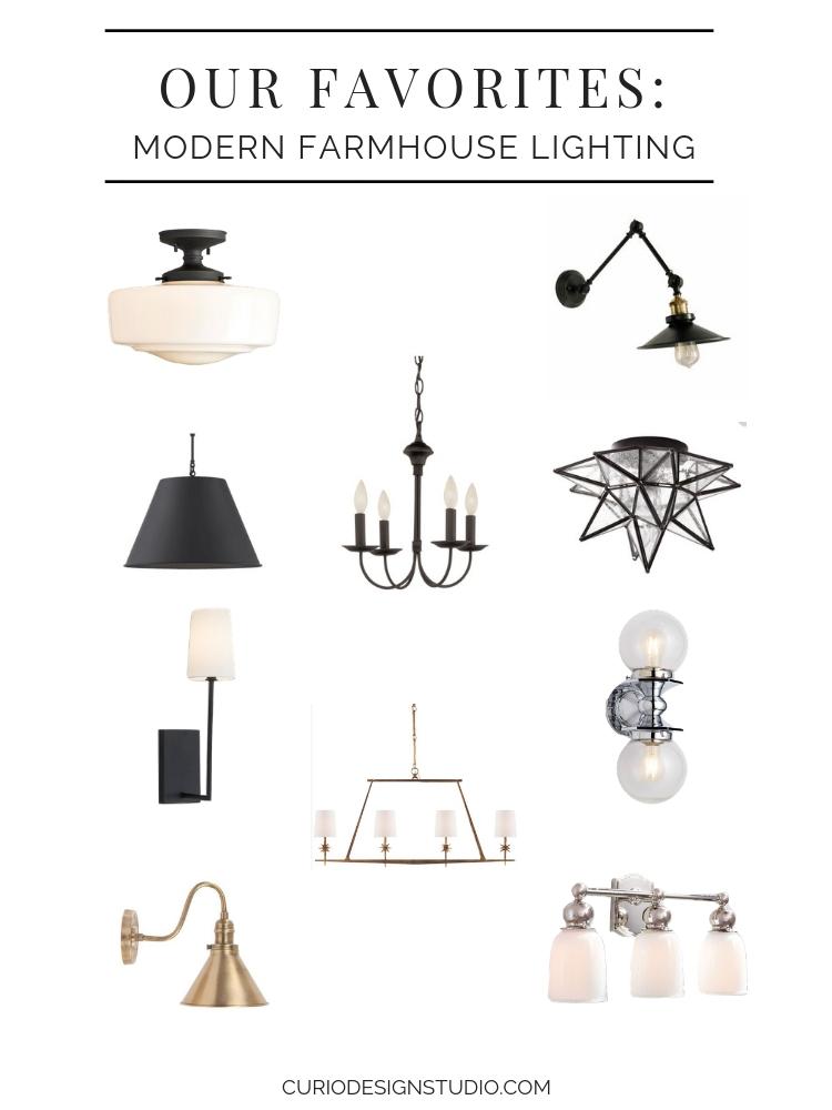 modern farmhouse lighting curio