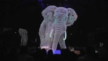 Circo troca animais reais por hologramas em 3D