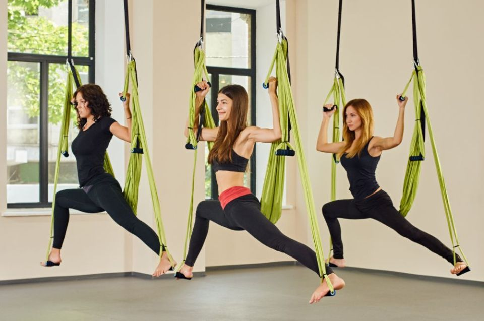 hamaca para hacer yoga