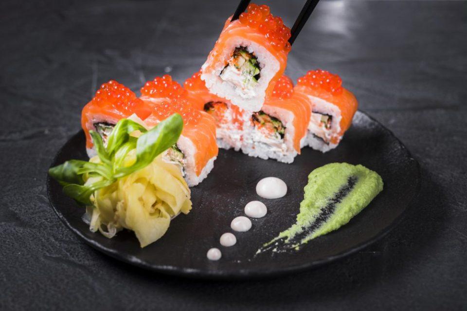 En asia se consume jengibre con el sushi