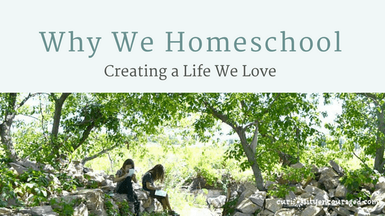 Why We Homeschool- Creating the Life We Love