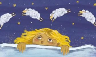 girl counting sheep to fall asleep