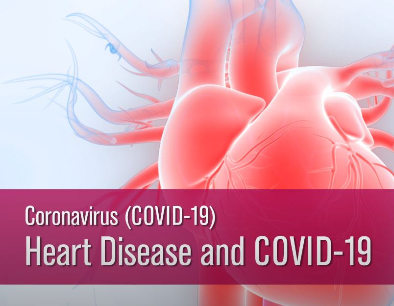 Picture showing how covid-19 Coronavirus affects the heart.