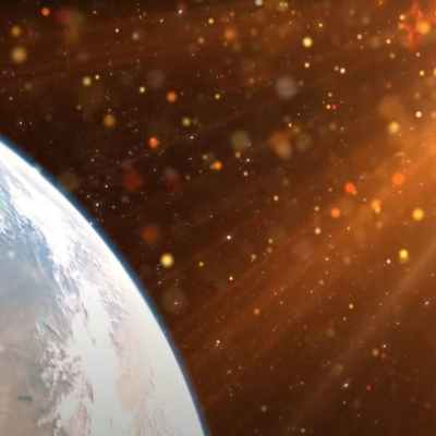 The sun and the earth, myths about space.