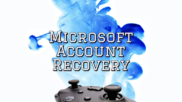 Text: Microsoft account recovery.