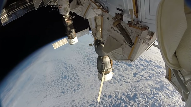 Space junk impact against the International Space Station (ISS).