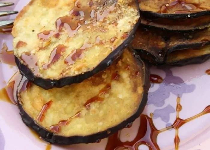 Eggplants with honey