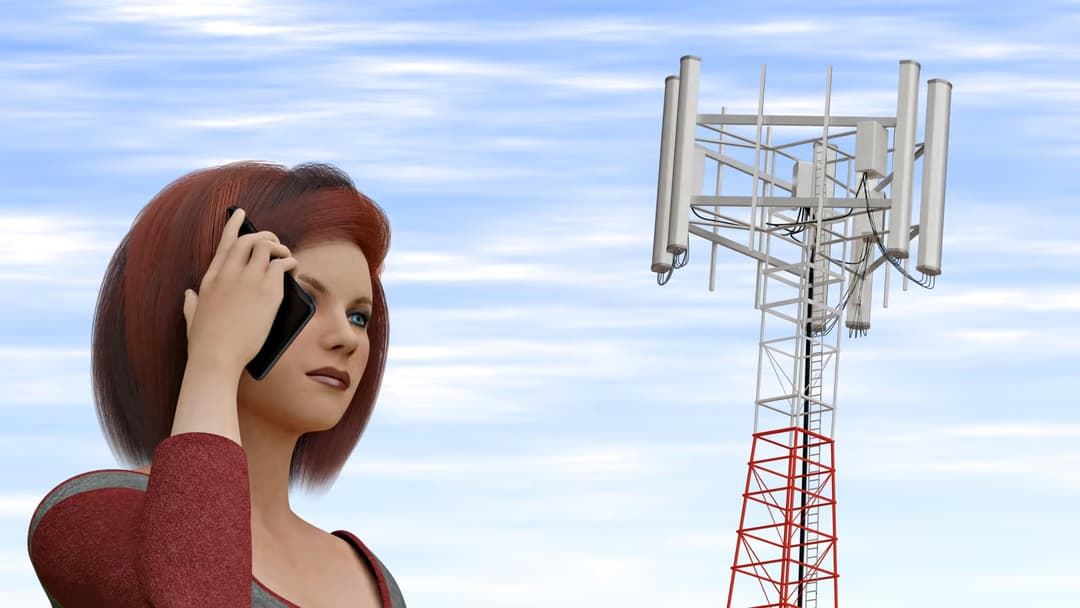 Mobile phone network.