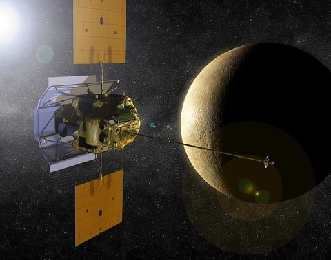MESSENGER NASA robotic space probe and Mercury.