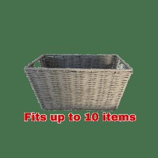 grey rope basket