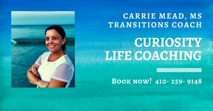Carrie Mead, MS,  EFT Practitioner, Curiosity Life Coaching