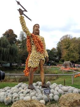 Pumpkin sculptures Ludwigsburg pumpkin festival in Germany