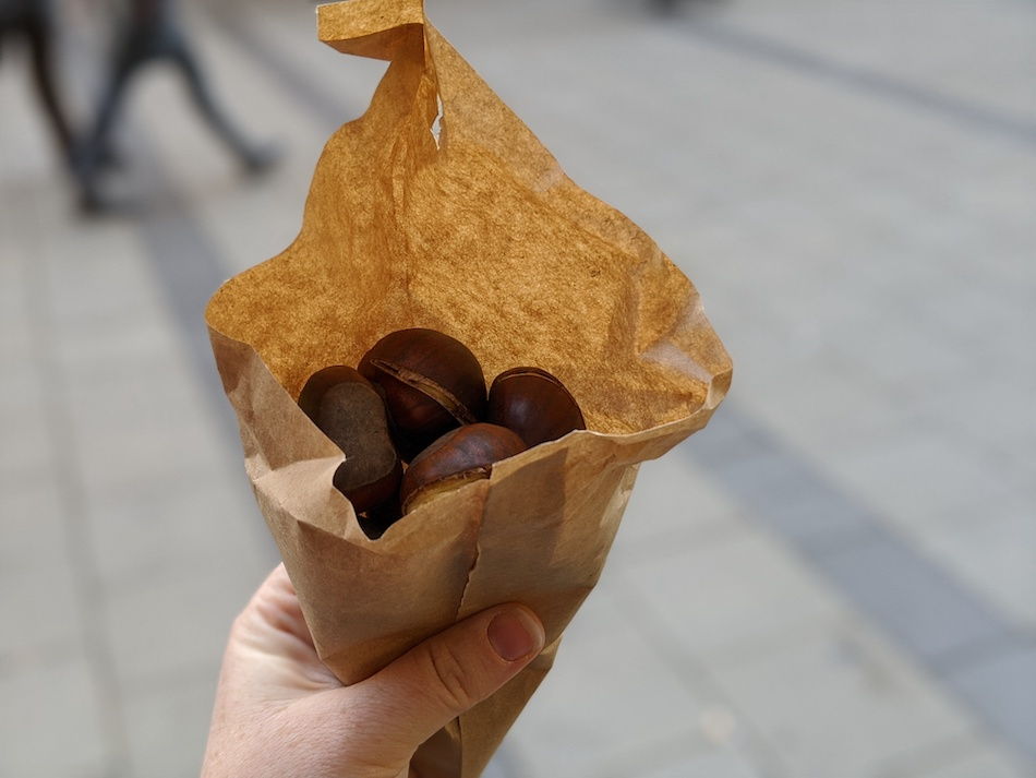 Roasted chestnuts Munich Christmas market food