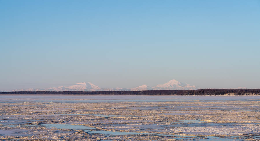 Alaska range Denali in winter