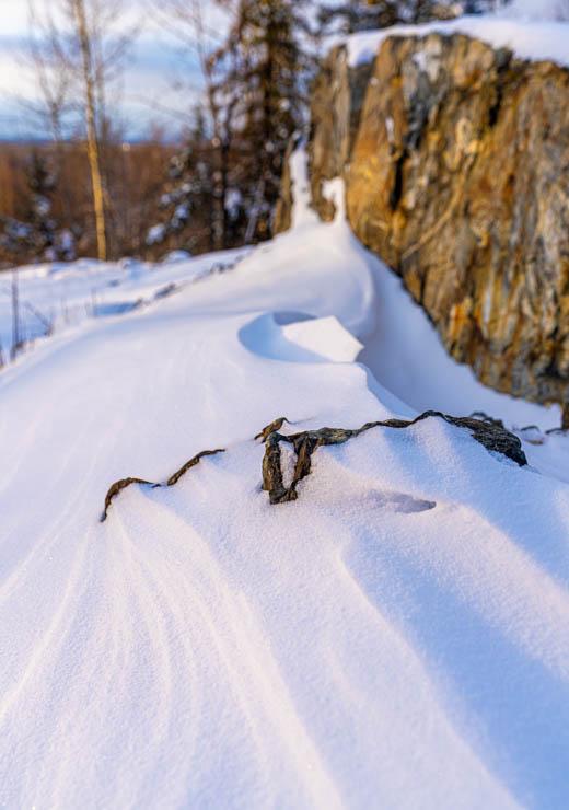 snow scape in alaskan winter