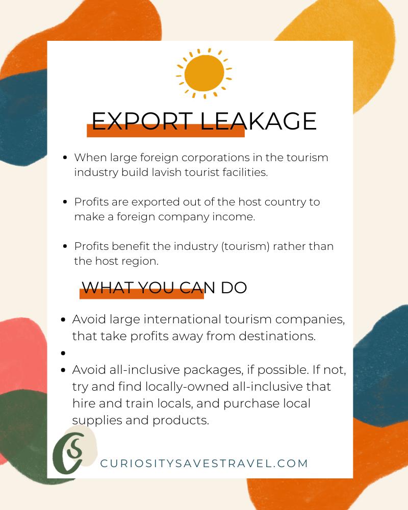 tourism leakage export leakage