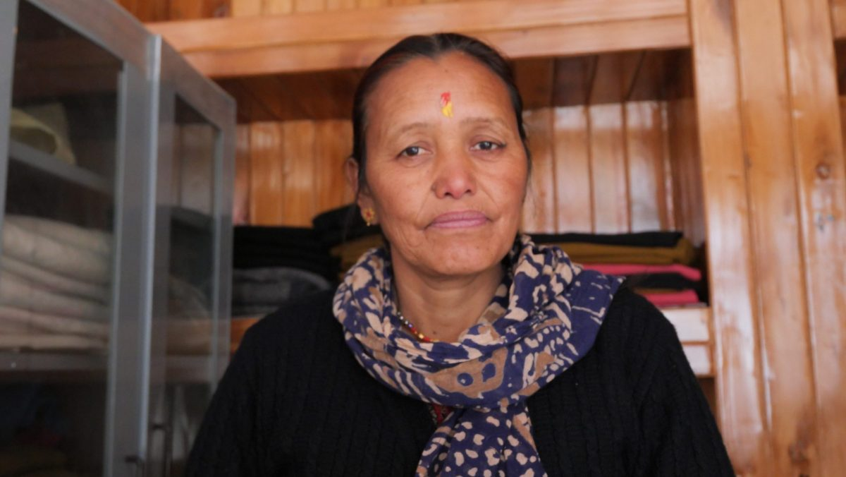 Kamala, a local women who works at Saras, a women-led cooperative that provides alternate employment opportunities to local women